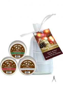 2014 Holiday Massage Candle Trio 2 Ounce Each Per Gift Bag