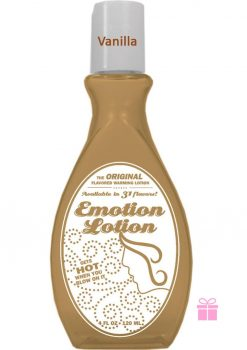 Emotion Lotion Flavored Warming Lotion Vanilla 4 Ounce