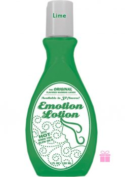 Emotion Lotion Flavored Warming Lotion Lime 4 Ounce