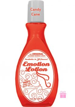 Emotion Lotion Flavored Warming Lotion Candy Cane 4 Ounce