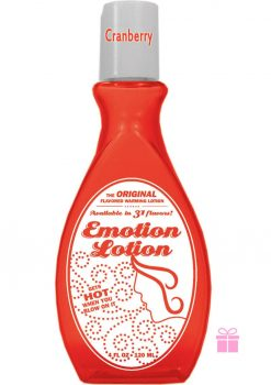 Emotion Lotion Flavored Lotion Warming Cranberry 4 Ounce