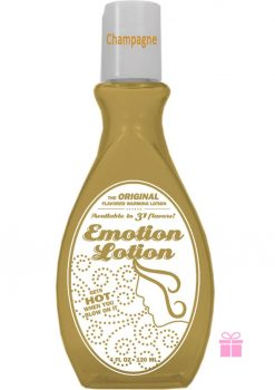Emotion Lotion Flavored Warming Lotion Champagne 4 Ounce