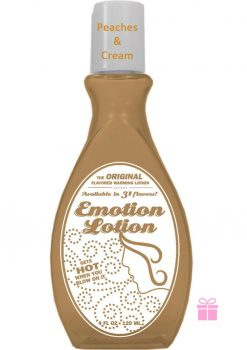 Emotion Lotion Flavored Warming Lotion Peaches And Cream 4 Ounce