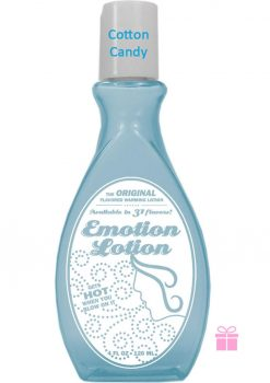 Emotion Lotion Flavored Warming Lotion Cotton Candy 4 Ounce