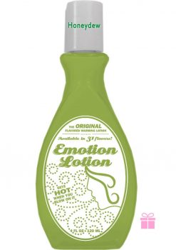 Emotion Lotion Flavored Warming Lotion Honeydew 4 Ounce