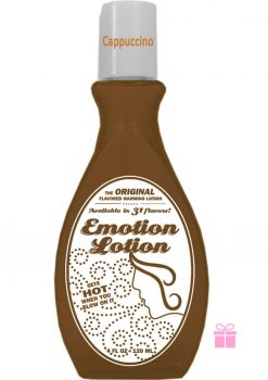 Emotion Lotion Flavored Warming Lotion Cappucino 4 Ounce