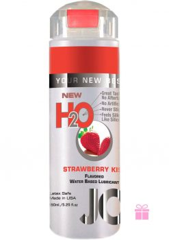 Jo H2O Flavored Water Based Lubricant Strawberry Kiss 5.25 Ounce