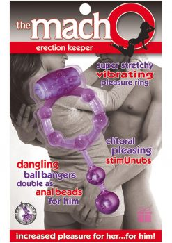 The Macho Erection Keeper Cock Ring Purple