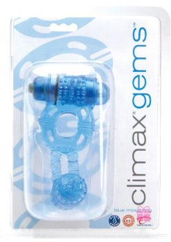 Climax Gems Blue Mood Ring Cock Ring Waterproof Blue