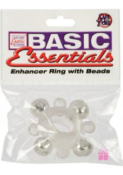 Basic Essentials Enhancer Ring With Beads Clear