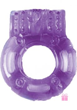 The Macho Vibrating Cockring Purple