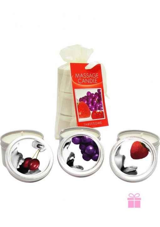 3 Candles Grape Cherry Strawberry
