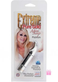 Extreme Pure Gold Mini Scoop 2.75 Inch Massager Platinum Waterproof