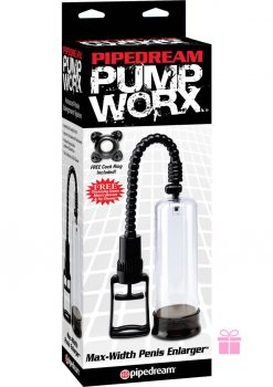 Pump Worx Max Width Penis Enlarger Clear