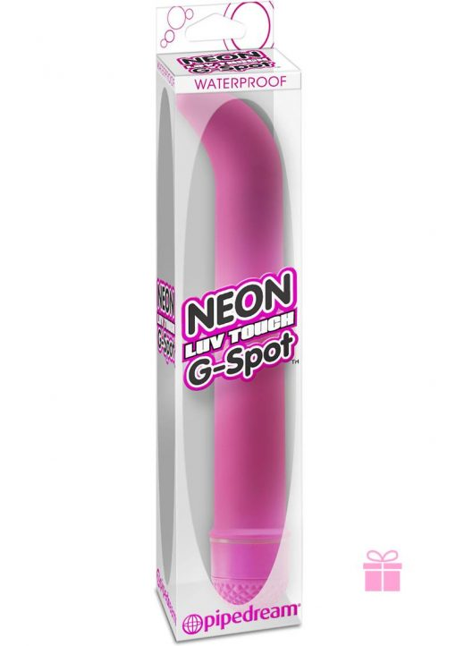 Neon Luv Touch G Spot Vibrator Waterproof 7.25 Inch Pink