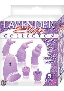 Elite Collection Vibrating Bullet 5 Changeable Sleeves Lavender