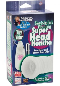 Sue Johanson Glow In The Dark Vibrating Super Head Honcho Masturbator White