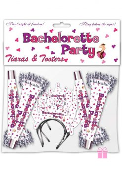 Bachelorette Party Tiara and Tooters 8 Pack