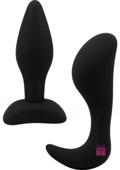 Dominant Submissive Silicone Butt Plug Waterproof Black