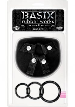 Basix Rubber Works Universal Harness Plus Size Black