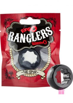 Ringo Rangler Spur Cockring Black 10 Each Per Box