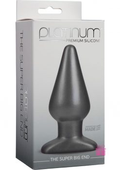 Platinum Silicone Super Big End Charcoal