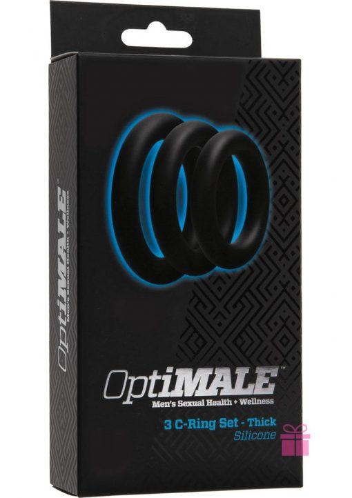 Optimale 3 Silicone C-Ring Set Thick Black