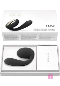 Tara Premium Silicone Couples' Massager Waterproof Black