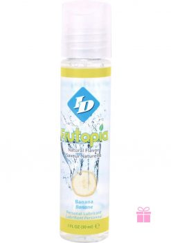 Frutopia Natural Flavor Water Based Personal Lubricant Banana 1 Ounce Bottle