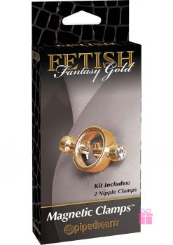 Fetish Fantasy Gold Magnetic Nipple Clamps