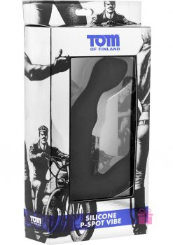Tom Of Finland Silicone P-Spot Vibe Black 6 Inch