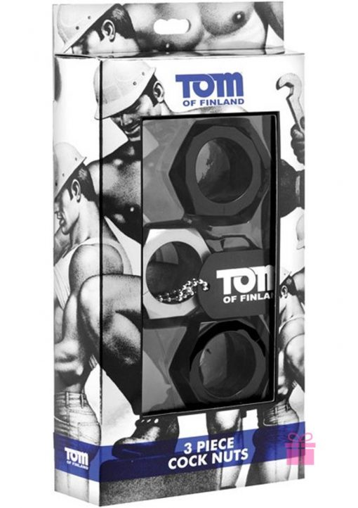 Tom Of Finland 3 Piece Cock Nuts Cockrings