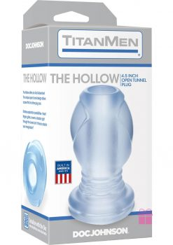 TitanMen The Hollow Open Tunnel Anal Plug Clear 4.5 Inch