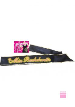 Miss Bachelorette Gitd Sash Black