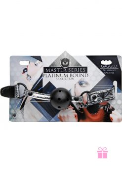 Master Series Platinum Bound Breathable Gag