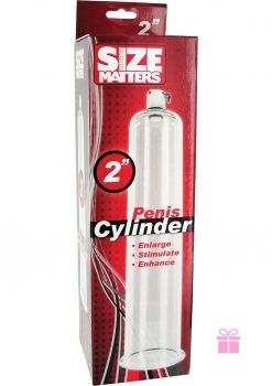 Size Matters Penis Cylinder Clear 2 Inch Diameter