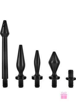 Clean Stream Enema Tip Set 5 Peice Black