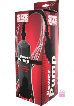 Size Matters Power Pump Black