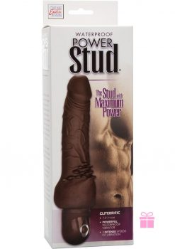 Power Stud Cliterrific Waterproof Brown 7.5 Inch