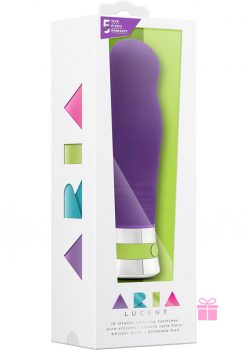 Aria Lucent Silicone Vibrator Waterproof Purple