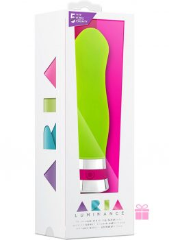 Aria Luminance Silicone Vibe Waterproof Green