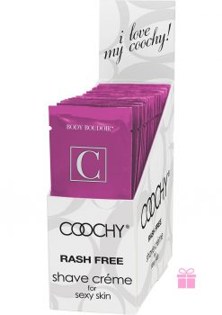 Coochy Shave Creme Make Me Blush Foil Pks 24 Display