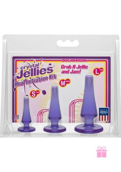 Crystal Jellies Anal Trainer Kit Purple