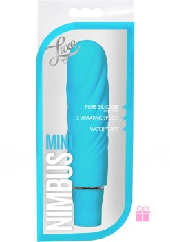 Luxe Nimbus Mini Multifuction Vibe Silicone Waterproof Aqua