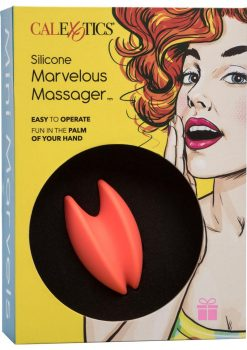 Mini Marvels Marvelous Silicone Rechargeable Massager Waterproof Orange 3 Inch