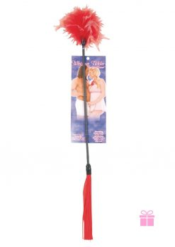 Whipper Tickler Feather And Rubber Tickler Red