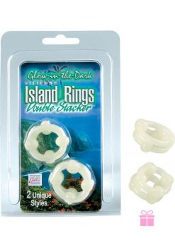 Island Rings Double Stacker Glow In The Dark 2 Styles