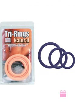 Tri Rings Blue Cock Ring Set Blue