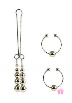 Nipple and Clitoral Non Piercing Body Jewelry Silver