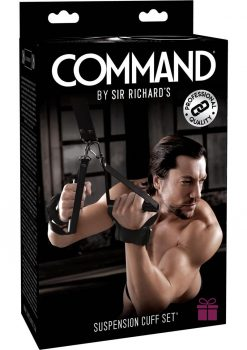 Sir Richard's Command Suspension Cuff Set Black And Stainless Steel